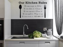 Our Kitchen Rules Wall Art Sticker, Wall Art, Sticker, Decal, Modern Transfer